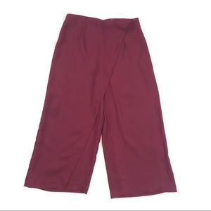 ASOS - Burgundy Pants with Skirt Illusion (NWT)